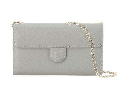 Grey pebbled bag front
