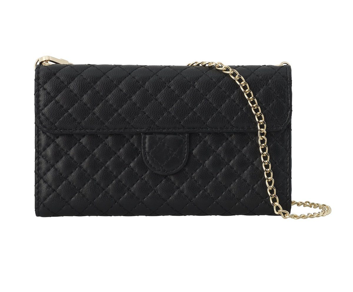 QUILTED BLACK Leather bag front